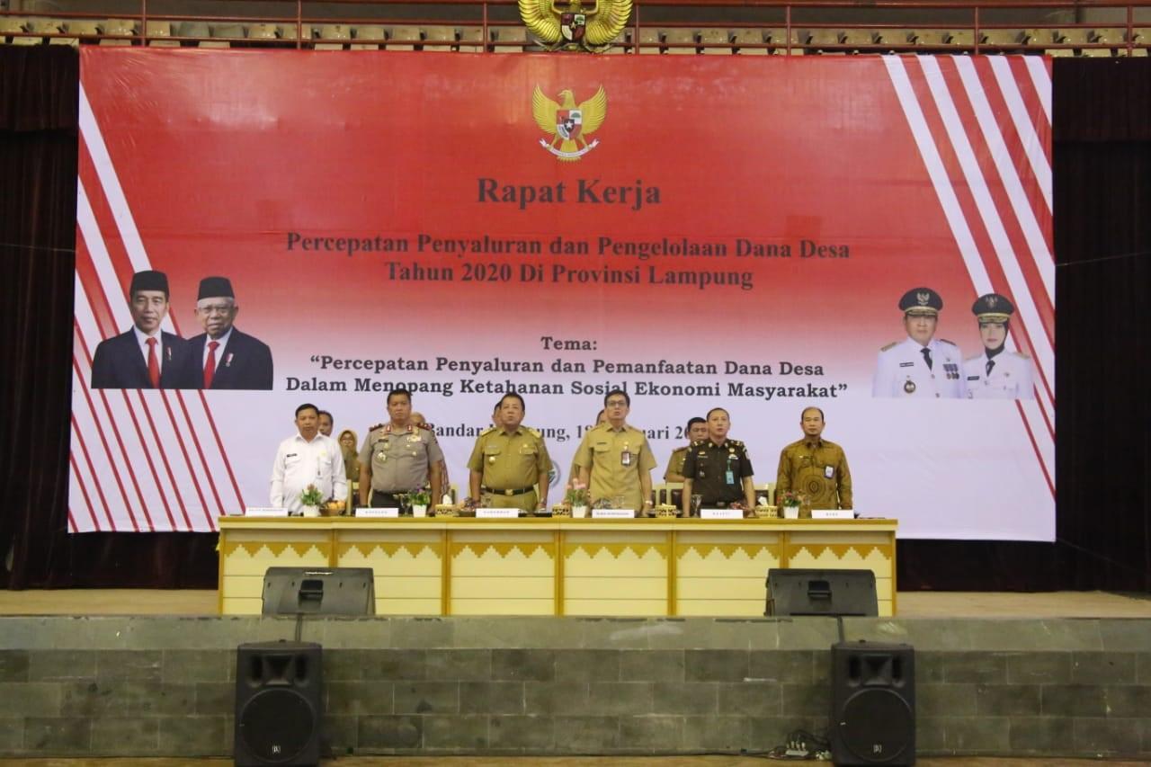 Percepatan Penyaluran dan Pengelolaan Dana Desa Tahun 2020 di Provinsi Lampung